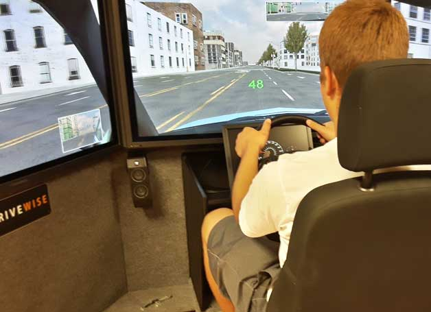 Learn to drive a car driving simulator